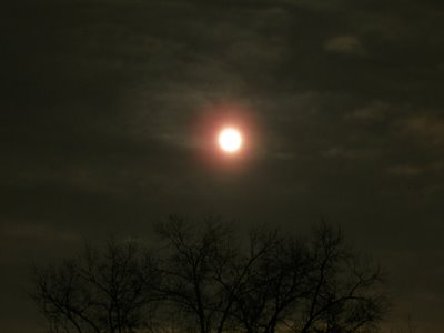 Full moon in the sky over Toledo, OH
