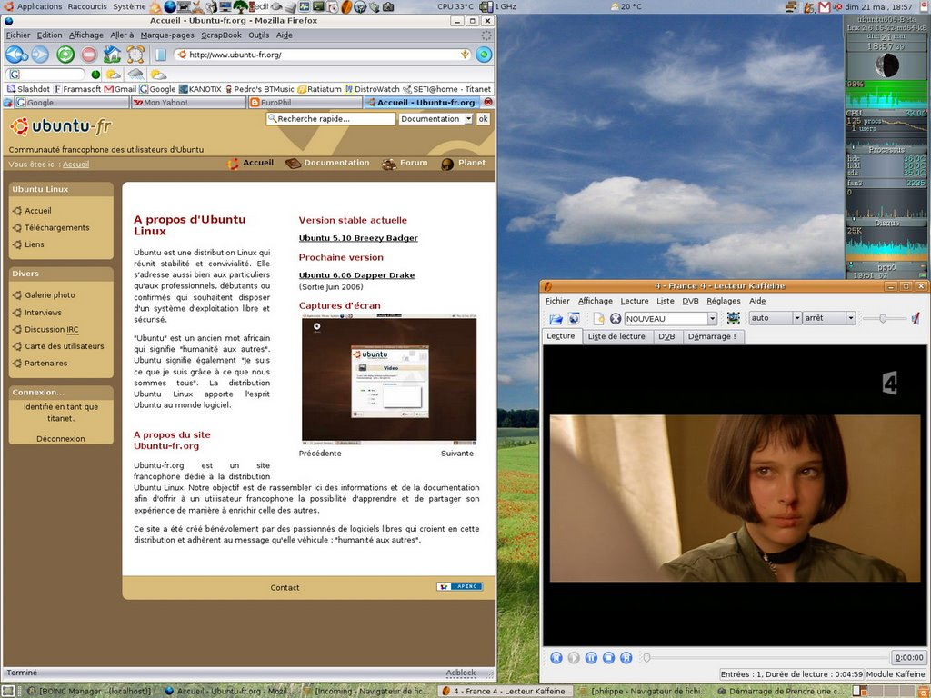 Europhil la tnt sous ubuntu c 39 est trop simple for Photo ecran ubuntu