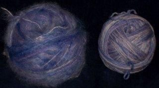 FA wools in balls.
