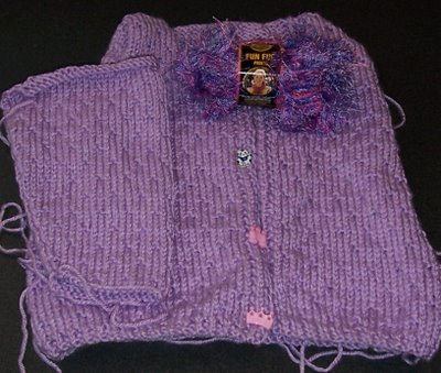 Lissa's sweater in progress