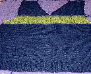 sweater vest blocking