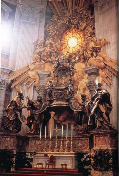 The Altar of the Chair of Peter - St. Peter's Basilica