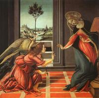 'The Cestello Annunciation,' Sandro Botticelli, 1489 Galleria degli Uffizi, Florence, Italy