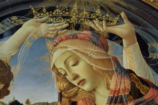 detail from 'the Madonna of the Magnificat' by Sandro Botticelli