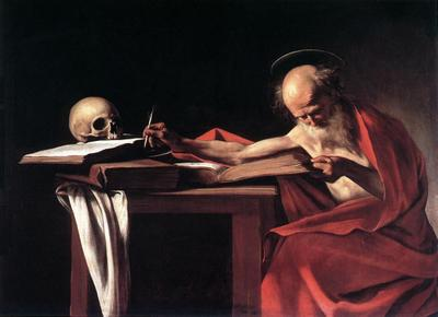 'St. Jerome writing' by Caravaggio - St John Museum, La Valletta (Malta)