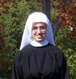Sister Mary Andrea of the Incarnate Word became a Novice on October 20, 2005