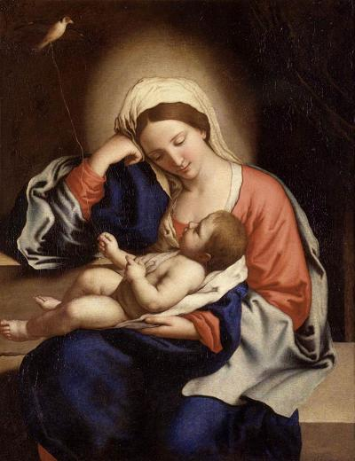 'Madonna with the Christ Child' by Sassoferrato - d. 1685, Roma