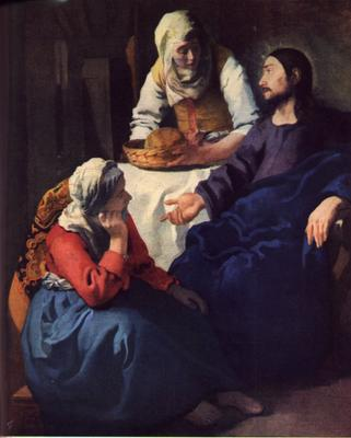 'Christ in the House of Martha and Mary' by Johannes Vermeer - National Gallery of Scotland, Edinburgh