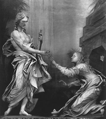 'Noli me tangere' by Antonio Raggi (design by Gian Lorenzo Bernini) SS. Domenico e Sisto, Rome
