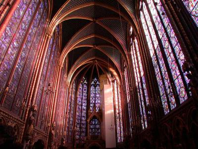 The glorious interior of the Sainte Chapelle - click image for larger version and above link for more information and pictures