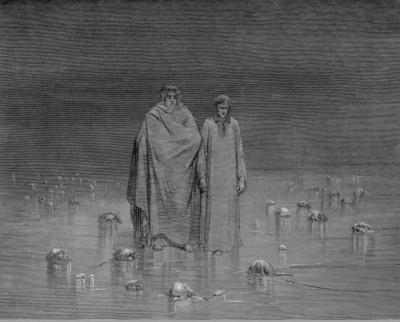 'Cocytus' - one of Gustave Doré's illustrations for Dante's Inferno