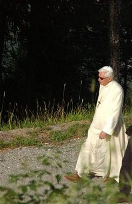 Pope Benedict XVI on his recent vacation