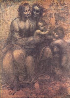 'The Virgin and Child with St Anne' by Leonardo da Vinci - National Gallery, London