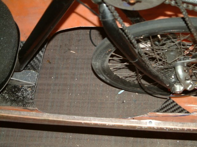 how to cut hole in seat