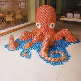 Cyn\'s Crochet & Knitting Corner: Canstruction - Can Art