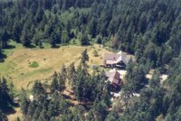 Kicking Horse Canyon B&B Aerial View