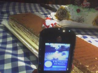 Fotografia captada através de telemóvel... na noite de Natal