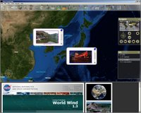 World Wind: integrated browser + widget