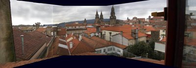 Santiago de Compostela, cidade velha, panorámica