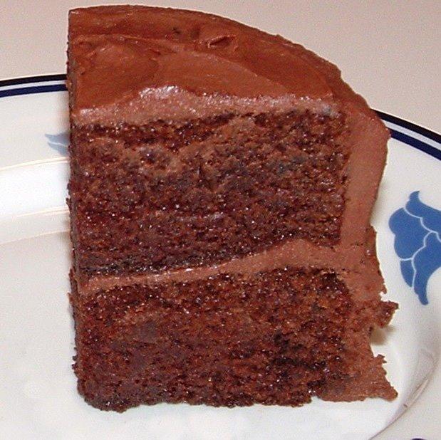 Chocolate Cake Being Eaten