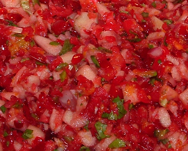 Rah Cha Chow: Fresh cranberry salsa