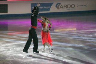 Galit Chait et Sergei Sakhnovski. Gala de cloture des championats d'Europe de patinage de Lyon. 22 Janvier 2006