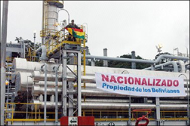 nationalization of bolvias oil and gas Associated with nationalization in a sample of oil-producing countries   countries include algeria (2006), bolivia (2006), china (2006), ecuador (2007),  russia (2006, 2007),  crude petroleum and natural gas extraction.