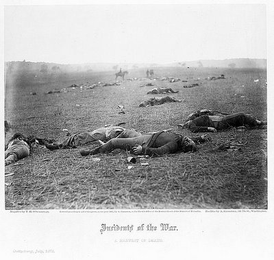 Incidents of the war. A harvest of death, Gettysburg, July, 1863 - O'Sullivan, Timothy H., 1840-1882