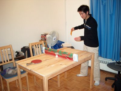 Makeshift Ping Pong