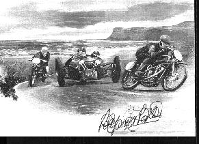 drawing from the programme of the first hill climb by Peter Parker