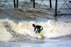 surfing in Saltburn
