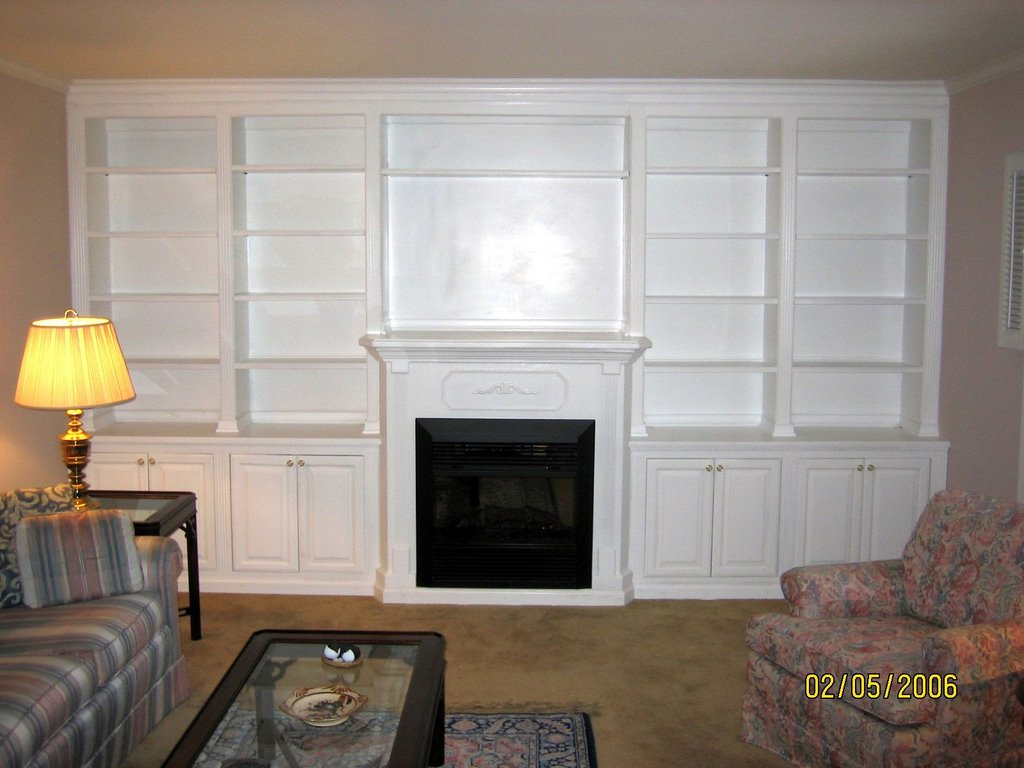 Entertainment Centers Bookcases By Robert F Springer Wall Unit With Firepla