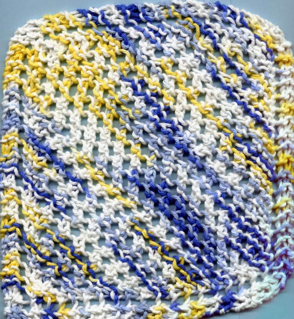Dishcloth Pattern Corner And Some Scrubbies Too Diagonal Dishcloth
