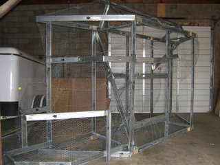 Metal studs and poultry netting