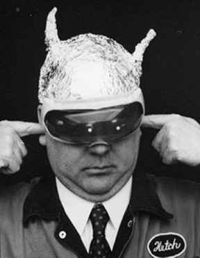 Image result for tin foil man hat