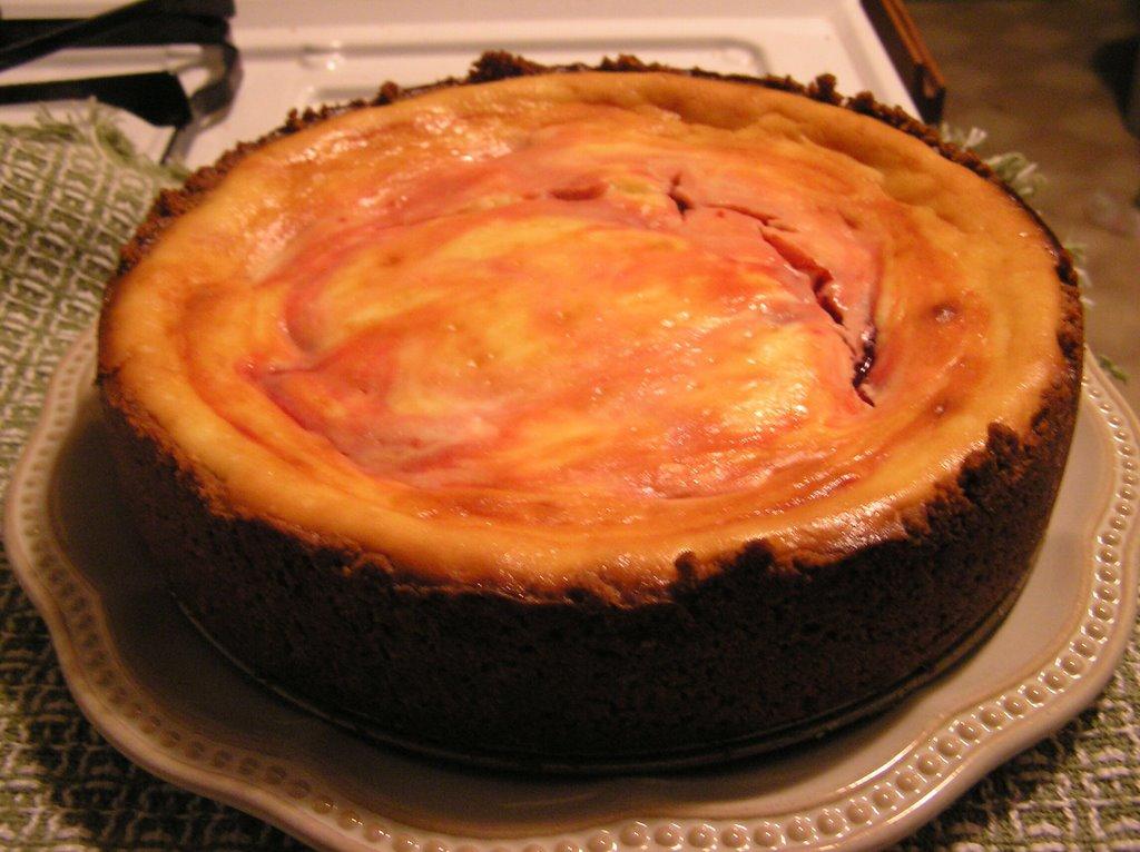 Cherry Swirl Cheesecake