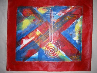 ouzin artiste peintre a montpellier art moderne art africain deco les musiciens. Black Bedroom Furniture Sets. Home Design Ideas