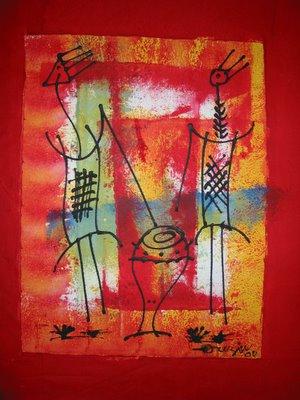 ouzin artiste peintre a montpellier art moderne art africain deco novembre 2005. Black Bedroom Furniture Sets. Home Design Ideas