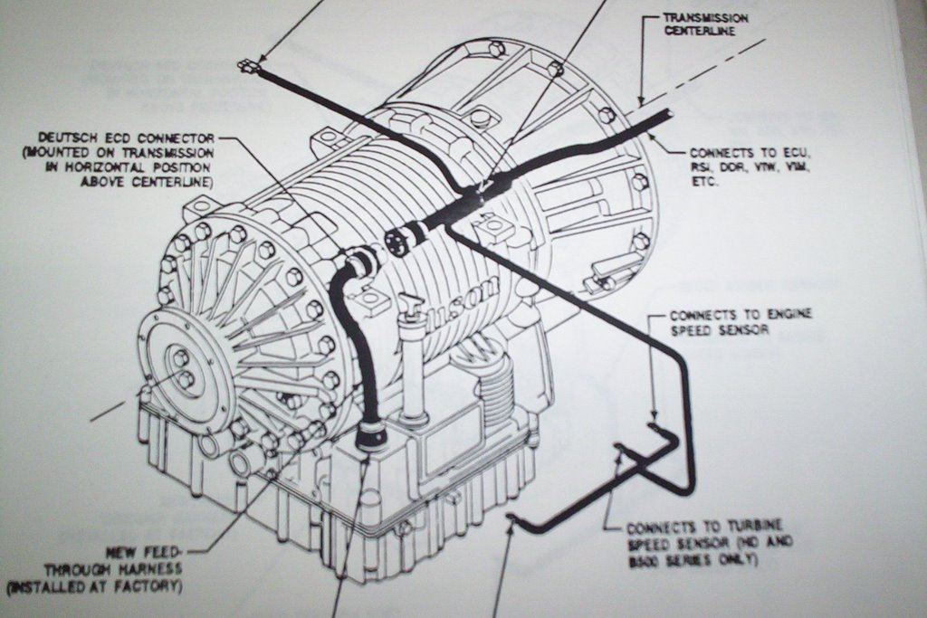 school bus mechanic Allison MD3060 Transmission Breakdown allison md 3060 automatic transmissions