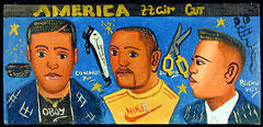 barber sign - ivory coast
