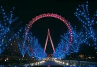 london eye lit up pink for breakthrough