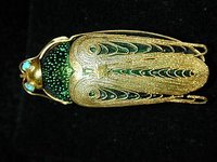 scarab brooch