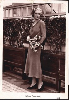 Postcard of Miss England 1932