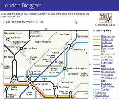 Tube map of King's Cross