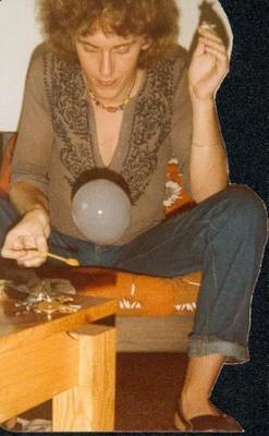 Me blowing smoke bubbles