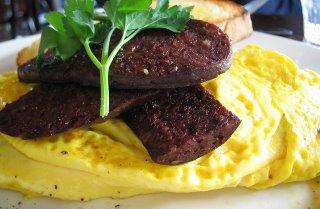 black snag omelette