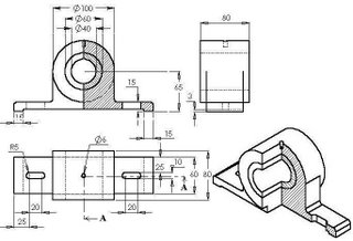 Engineering Drawing Orthographic Projection Auxiliary View furthermore 297448750376560259 likewise Autocad Tutorial 12 likewise 52103 chair o P furthermore I found a really cool coloring book style 65. on 3 views of orthographic projection