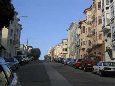 Calle San Francisco en cuesta