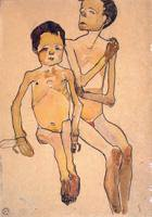 Two Seated Nude Boys