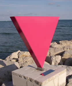 Pink Triangle Monument, Sitges, Spain